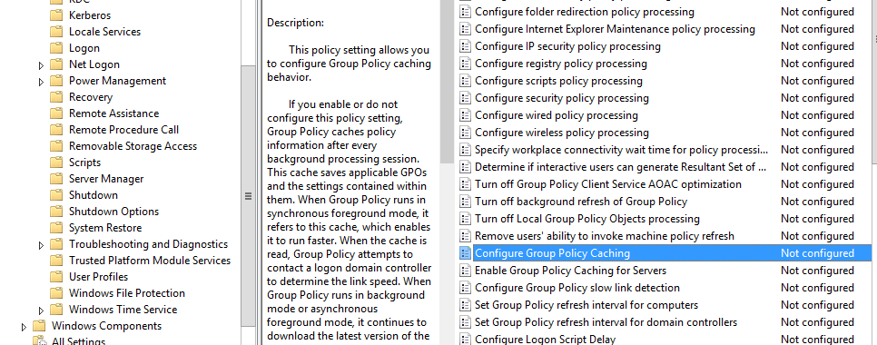 Windows Server 2012 R2 Group Policy Caching | Tech Blog
