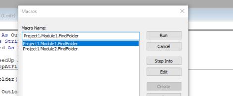 Missing outlook folder Macro finder | Tech Blog