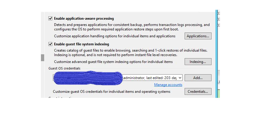 Veeam backup / sorting out : SQL VSS Writer is missing: databases